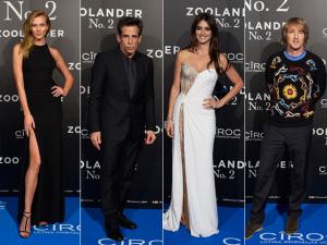 """Penélope Cruz e top models na première de """"Zoolander 2"""" em Madri"""