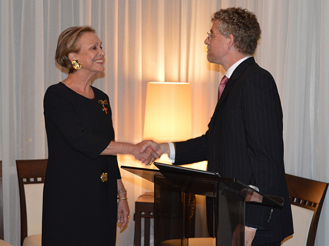 Sabine Lovatelli e o cônsul Axel Zeidler