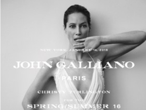 John Galliano divulga nova identidade visual com Christy Turlington