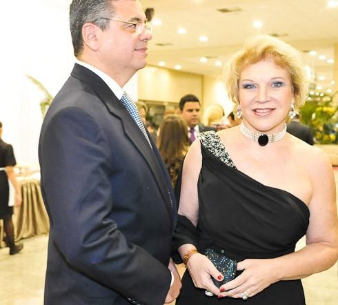Marcio Toledo e Marta Suplicy, no aniversário de 70 anos da senadora
