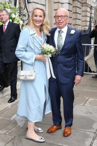 Mais sobre o casamento de Rupert Murdoch e Jerry Hall, o casal do momento