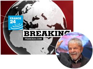 Canal francês interrompe programação para mostrar Lula