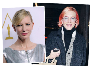 É cor de rosa choque! Cate Blanchett muda completamente o visual