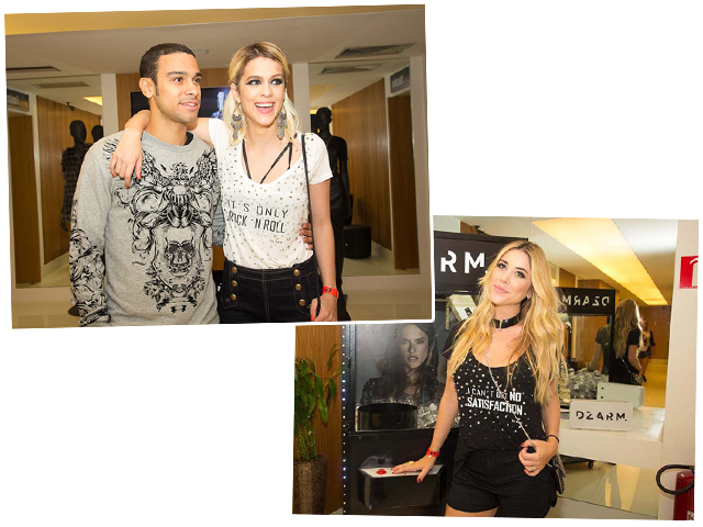Sophia Abrahao e Mica Rocha com looks DZARM.