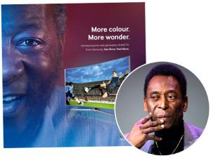 Pelé processa Samsung e pede indenização de R$108 milhões