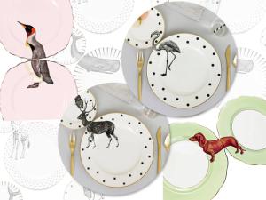 Lá em Casa: as porcelanas lúdicas pintadas à mão por Yvonne Ellen