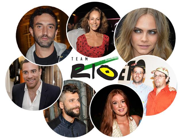 Riccardo Tisci, Andrea Dellal, Cara Delevingne, Pedro Lourenço, Bruno Gagliasso, Marina Ruy Barbosa e Osgemeos: Team Rio