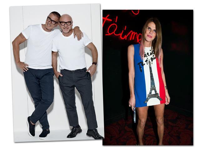 d110d9baacb2b Domenico Dolce e Stefano Gabbana armam festa para Anna Dello Russo em SP     Créditos  Divulgação