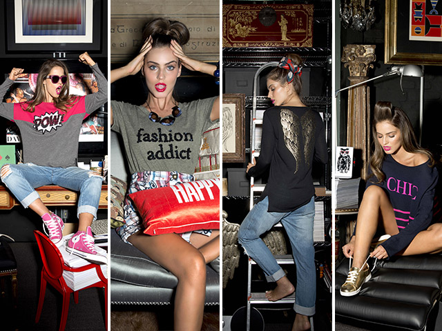 Para mostrar os highlights da temporada, Julie convidou a fotografa Nicole Fialdini e a modelo Mariana Vansuit