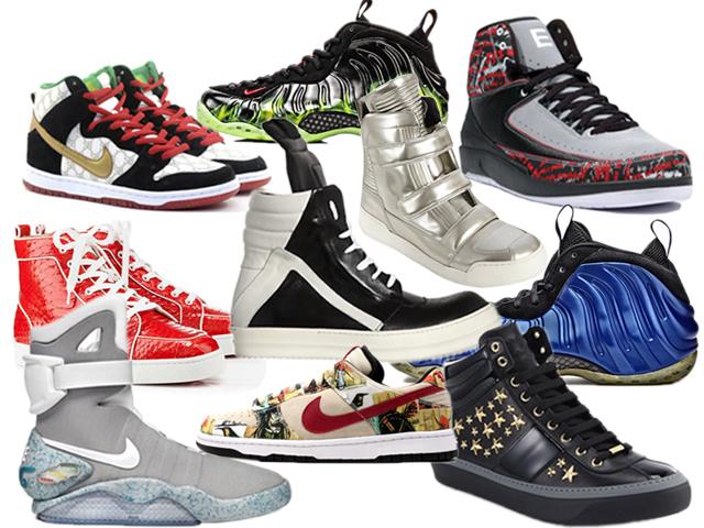 Caros e exclusivos. Siga a seta aqui embaixo e confira a lista dos sneakers que valem ouro!