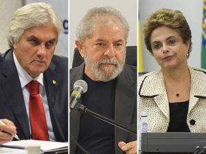 Delcídio, Lula e Dilma divulgam notas em sequência