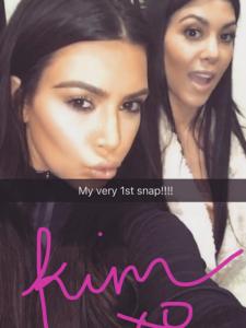 Kim Kardashian estreia no Snapchat e promete causar ainda mais
