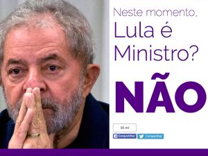 Site informa em tempo real se Lula é ou não ministro da Casa Civil