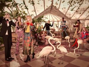 O inverno colorido e exótico da nova campanha da Gucci