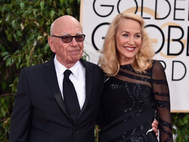 Rupert Murdoch e Jerry Hall rmo ao altar Créditos: John Shearer