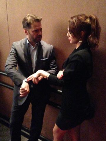 Mariana Ximenez e Jason Priestley bateram altos papos sobre o Rolex do ator