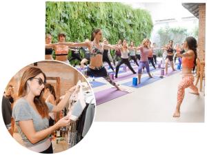 Amaro apresenta nova linha fitness com aula de yoga no Manioca