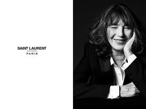 Jane Birkin é clicada por Hedi Slimane para projeto da Saint Laurent