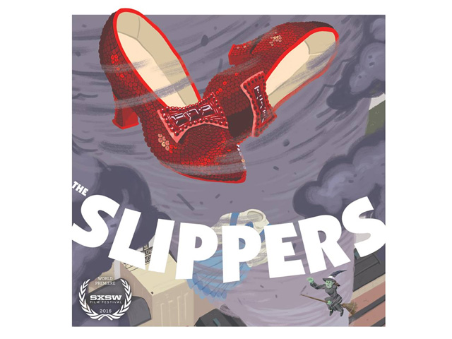 Poster do documentário que tenta desvendar o paradeiro dos famosos sapatos de rubi