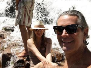 As férias bucólicas de Cacá de Souza em Alto Paraíso, em Goiás