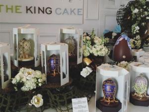The King Cake arma venda especial de ovos de Páscoa
