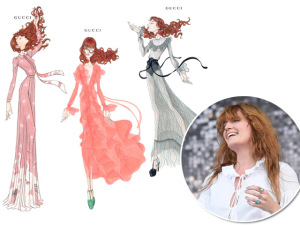 Florence Welch veste Gucci no palco do Lollapalooza. Aos croquis!