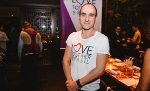 Amir Slama e Jacqueline Shor em jantar beneficente pela Love Together