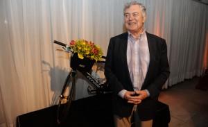 George Butterfield, dono da Butterfield & Robinson, na festa de 50 anos da marca