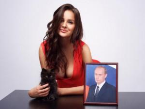 A nova namorada de Vladimir Putin, 40 anos mais jovem