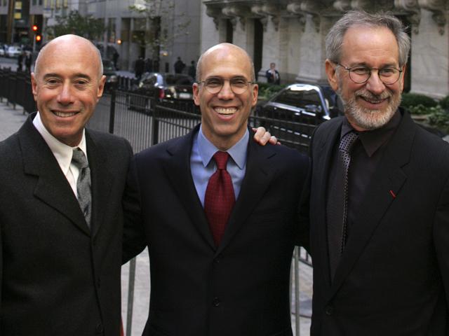 Steven Spielberg, Jeffrey Katzenberg e David Geffen