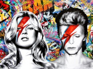 Quadro com Moss e Bowie promete ser o mais disputado do amfAR