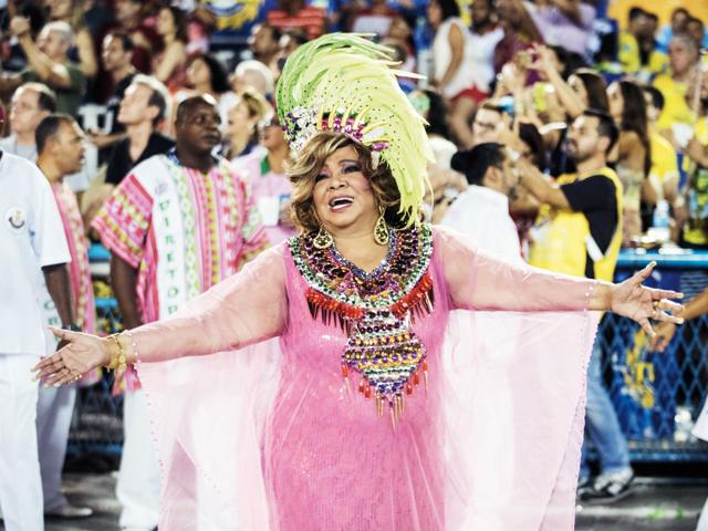 Alcione no Carnaval do Rio de Janeiro deste ano