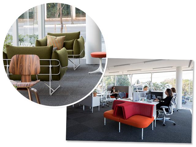 Escritório da Herman Miller em São Paulo com conceito Living Office