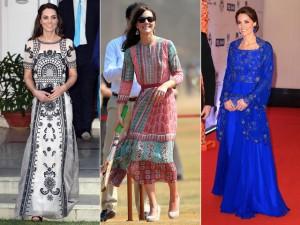Em viagem a Índia, Kate Middleton faz bonito adotando estilo local