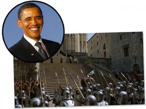 Seguindo a tradição, Barack Obama assistiu a GOT antes de todo mundo