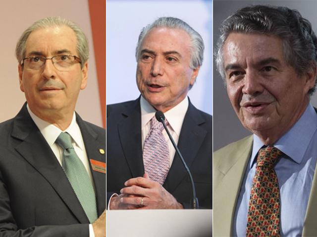 Eduardo Cunha, Michel Temmer e Marco Aurélio Créditos: paulo freitas/agencia brasil