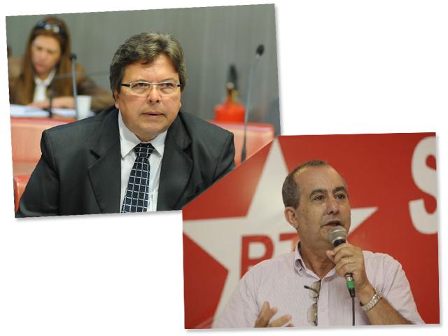 Os líderes do PSDB, Carlão, e do PT, Zico Prado, que duelam na Alesp