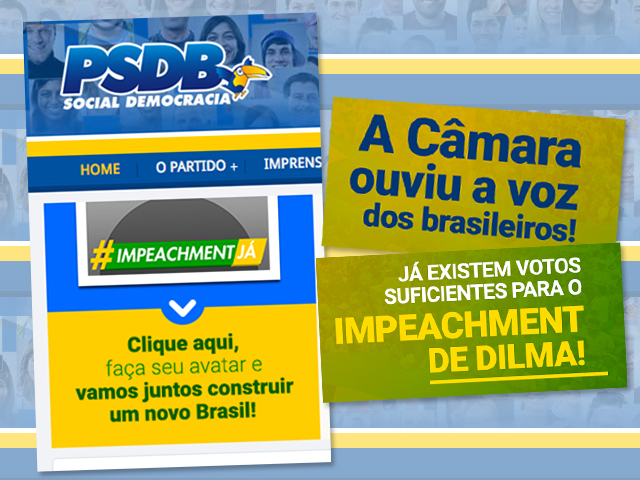 Em site, PSDB antecipa placar favorável ao impeachment