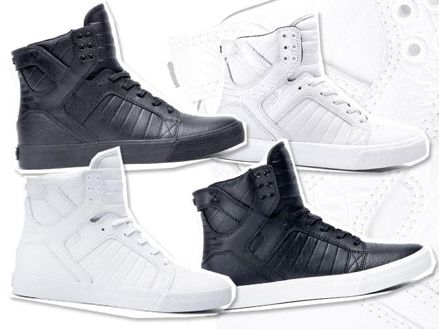 Os modelos de sneakers da Supra Footwear que chegam ao Brasil neste mês