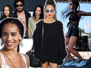 O reggae moderno da cantora e atriz Zoe Kravitz, filha de Lenny Kravitz