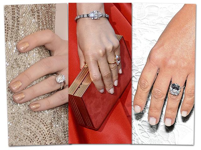 Famosas e bem amadas: os anéis de noivado provam isso