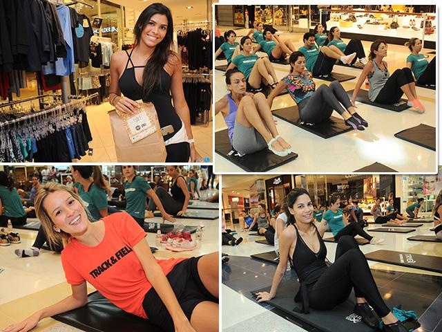 Track&Field reuniu várias glamurettes em torno da aula de Ballet Fitness neste domingo Créditos: Bruna Guerra