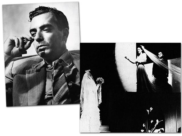 6a78aec96 Retrato de Nelson Rodrigues e cena da peça