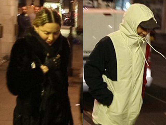 Madonna e Rocco: juntos em Londres