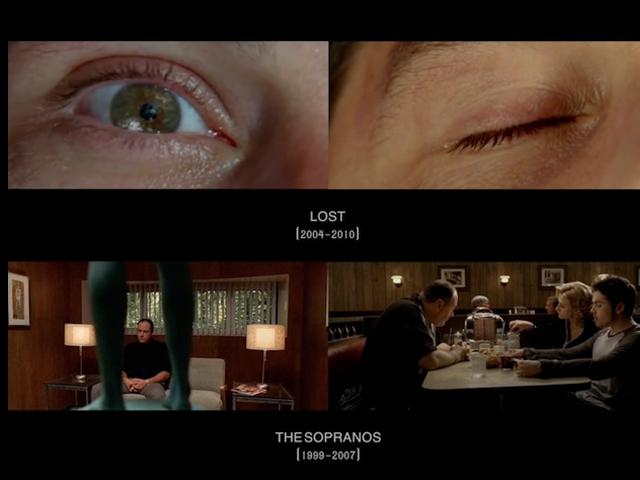 O vídeo mostra os momentos iniciais e finais de algumas séries de TV