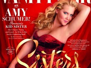 "Fora dos padrões de beleza, Amy Schumer é capa da ""Vanity Fair"""