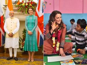 Kate Middleton segue apostando em looks hi-lo durante viagem à Índia