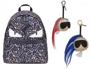Desejo do Dia: mochila + chaveiros da coleção cápsula Karlito, da Fendi