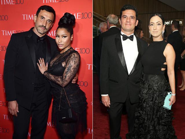 "Riccardo Tisci e Nicki Minaj e Sergio Moro e Rosângelo Moro na festa da ""Time"""