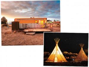 Hotel El Cosmico, no Texas, tem tendas para dormir e banho ao ar livre